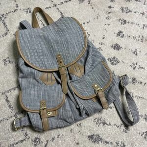 Mossimo Sparkly Backpack Grey Bag School Work